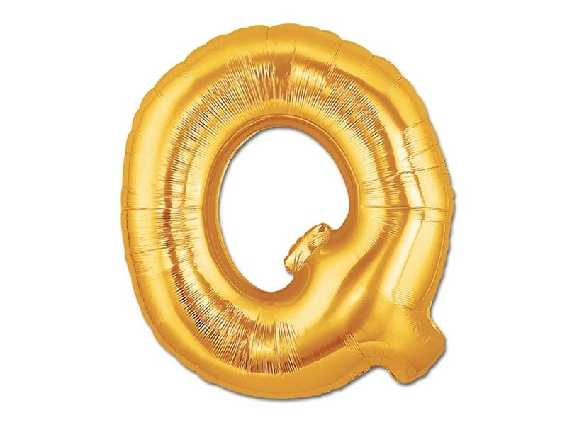 1 ballon alphabet doré 40 cm - lettre Q