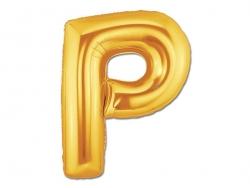 1 ballon alphabet doré 40 cm - lettre P