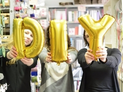 1 golden letter balloon (40 cm) - letter O