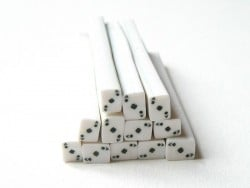 Cane carte as de pique- en pâte polymère - à trancher  - 1