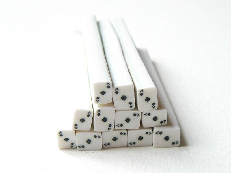 Card cane - ace of spades