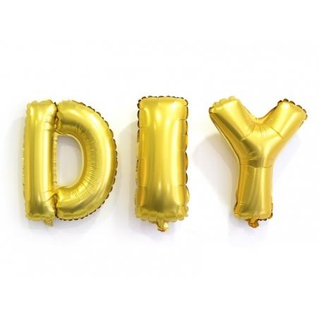 1 ballon alphabet doré 40 cm - lettre L