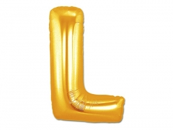 1 golden letter balloon (40 cm) - letter L