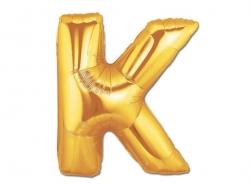 1 ballon alphabet doré 40 cm - lettre K