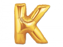 1 golden letter balloon (40 cm) - letter K