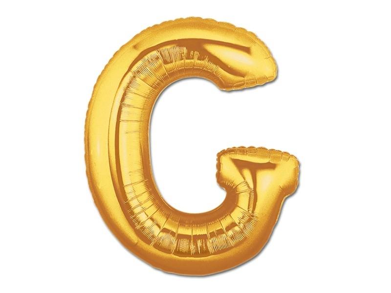 1 golden letter balloon (40 cm) - letter G