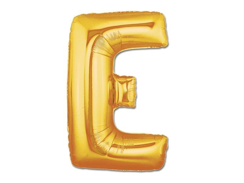 1 golden letter balloon (40 cm) - letter E