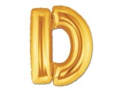 1 goldfarbener Buchstabenballon (40 cm) - Buchstabe D