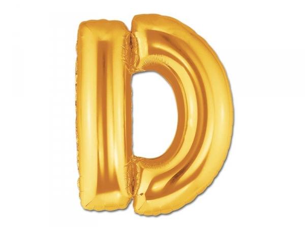1 golden letter balloon (40 cm) - letter D