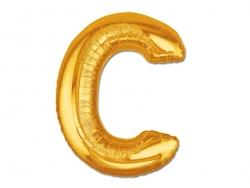 1 ballon alphabet doré 40 cm - lettre C