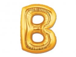 1 goldfarbener Buchstabenballon (40 cm) - Buchstabe B