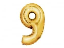 1 ballon chiffre doré 40 cm - numéro 9  - 1