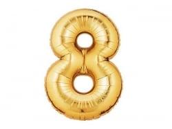 1 ballon chiffre doré 40 cm - numéro 8