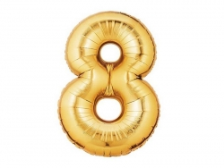 1 golden number balloon (40 cm) - number 8