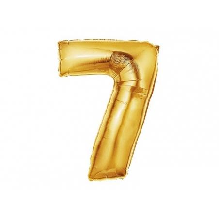 Acheter 1 ballon chiffre doré 40 cm - numéro 7 - 1,49€ en ligne sur La Petite Epicerie - Loisirs créatifs