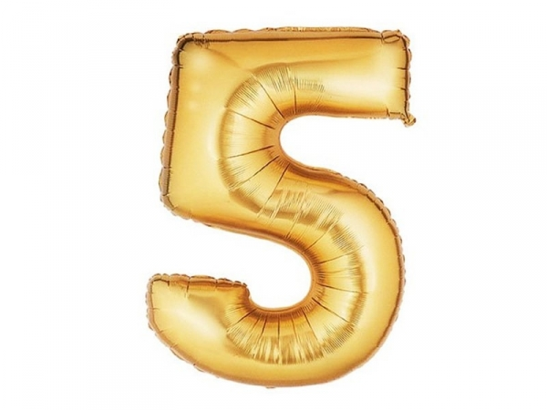 Acheter 1 ballon chiffre doré 40 cm - numéro 5 - 1,49€ en ligne sur La Petite Epicerie - 100% Loisirs créatifs