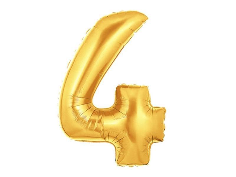 Acheter 1 ballon chiffre doré 40 cm - numéro 4 - 1,49€ en ligne sur La Petite Epicerie - 100% Loisirs créatifs