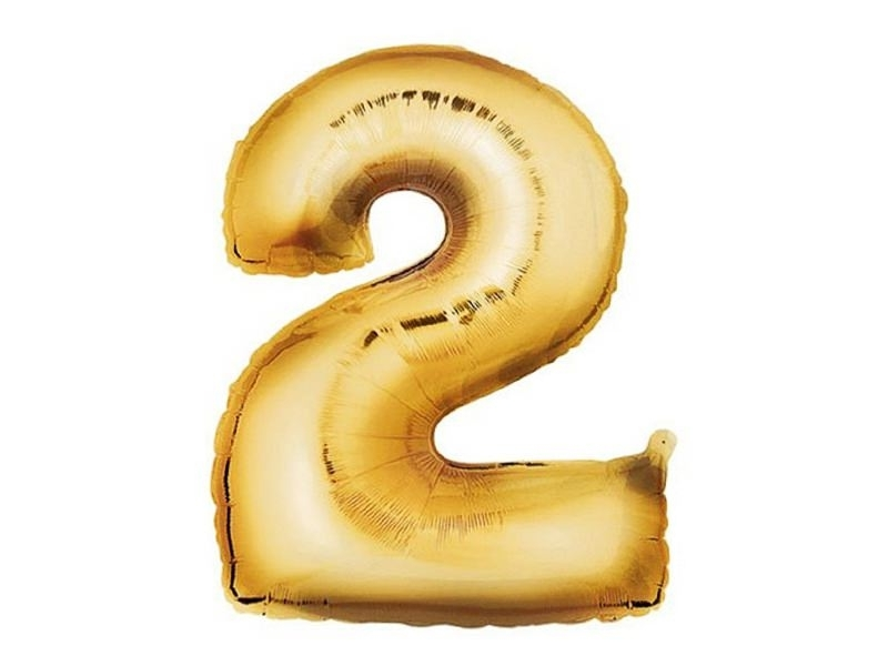 Acheter 1 ballon chiffre doré 40 cm - numéro 2 - 1,49€ en ligne sur La Petite Epicerie - 100% Loisirs créatifs