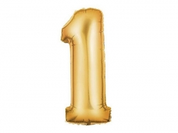 1 golden number balloon (40 cm) - number 1