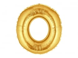 1 ballon chiffre doré 40 cm - numéro 0