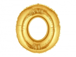 1 golden number balloon (40 cm) - number 0