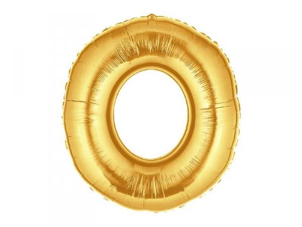 1 golden number balloon (40 cm) - number 0