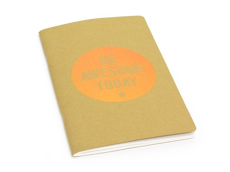 Carnet Kraft Be Awesome Today - cuivre