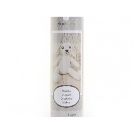 Kit crochet - Un lapin blanc pour bébé Rico Design - 3