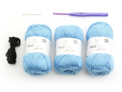 Kit crochet - Un lapin bleu pour bébé