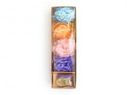 Guirlande de 8 fleurs en papier de soie - couleurs pastel