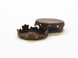 1 Aufsatz für Kugeln mit einer Öffnung von 14 mm - bronzefarben