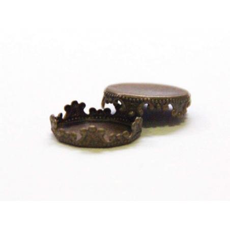 1 cap / pendant for 14 mm balls - bronze-coloured
