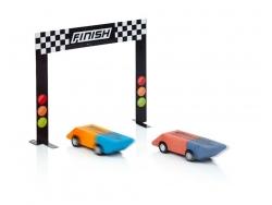 Set mit 2 Radiergummis in Form von Autos