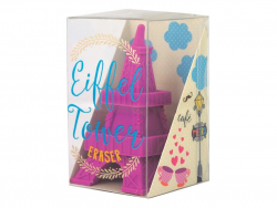 1 eraser in the shape of the Eiffel Tower - pink