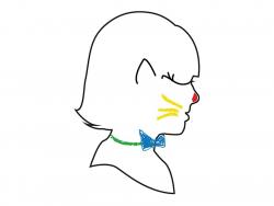6 crayons maquillage pour visage et corps