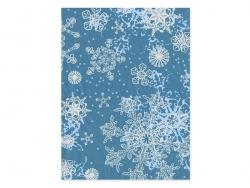 Papier décopatch - arabesques bleues