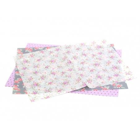 Papier décopatch - asanoha rose Décopatch - 2