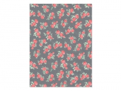 Décopatch paper - Flowers, grey