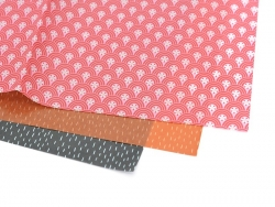 Papier décopatch - papier japonais rose et rouge