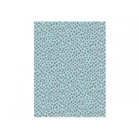 Papier décopatch - panthère bleu