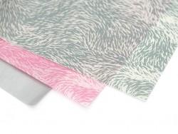 Papier décopatch - fourrure rose