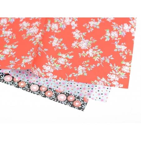 Papier décopatch -  fleurettes