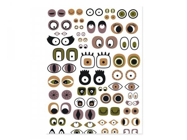 Papier décopatch -  yeux cartoon