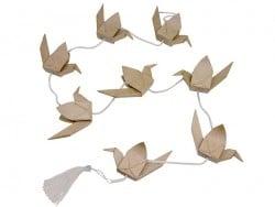 Guirlande de grues japonaises - papier mâché à customiser