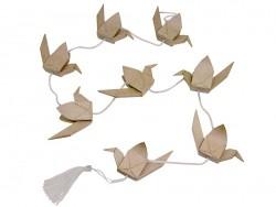 Japanische Kranichgirlande - aus Pappmaschee, zur individuellen Gestaltung