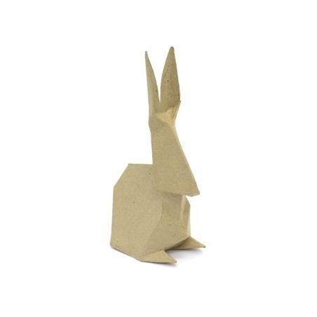 Lapin origami à customiser - papier mâché à customiser