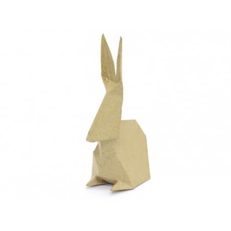 Customisable origami rabbit - papier mâché