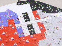 "Origami-Papier - ""Spaziergang durch Paris"" von Fifi Mandirac"
