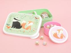 Boîte hermétique / lunchbox compartimentée - animaux de la forêt