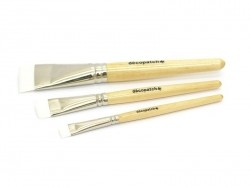 3 bristle paintbrushes/glue brushes - no. 10/17/30 Décopatch - 1
